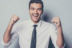 Happy winner. Royalty Free Stock Images