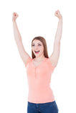 Happy winner. Royalty Free Stock Image