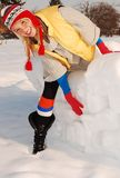 Happy winter. Winter is funny and colorfull Royalty Free Stock Photos