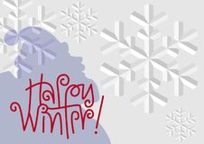 `Happy Winter` Background Royalty Free Stock Photo