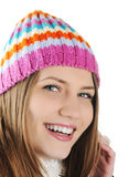 Happy Winter Beautiful Girl Stock Photography