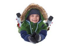 Happy winter boy Stock Photo