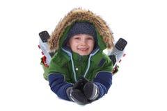 Happy winter boy Stock Photo