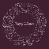 Happy winter card Royalty Free Stock Photos