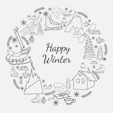Happy winter card Royalty Free Stock Photography