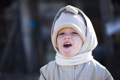Happy winter child Stock Image