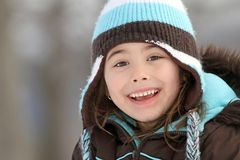 Happy winter child Stock Photos