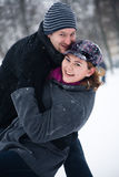 Happy winter couple Stock Photo