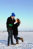 Happy Winter Couple Stock Image
