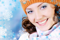 Happy winter face Stock Photos