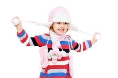 Happy winter girl Royalty Free Stock Photo