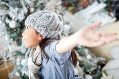 Happy winter girl Stock Images