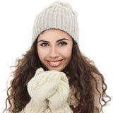 Happy winter girl stock photography
