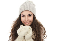 Happy winter girl Royalty Free Stock Photography