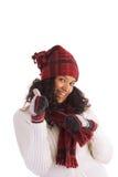 Happy winter girl Royalty Free Stock Photos
