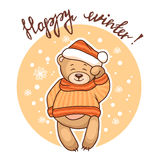 Happy winter greeting card Stock Images