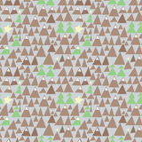 Happy winter holidays. Seamless celebratory pattern with mountains and wood Royalty Free Stock Photography