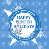 Happy winter holidays Royalty Free Stock Photography
