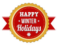 Happy winter holidays Royalty Free Stock Photos