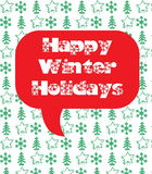 Happy Winter Holidays. Card Stock Photography