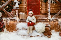 Happy winter holidays stock images