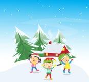 Happy Winter Kids Royalty Free Stock Image
