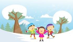 Happy Winter Kids Stock Photo