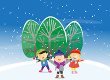 Happy Winter Kids Royalty Free Stock Photography