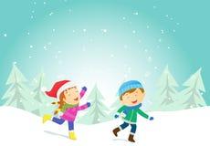 Happy Winter Kids Stock Photography