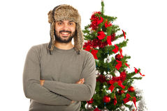 Happy winter man Royalty Free Stock Image