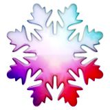 Happy winter snowflake. Colorize glass winter snowflake as Christmas or winter object vector illustration