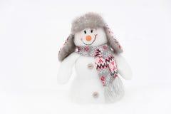 Happy winter snowman royalty free stock image