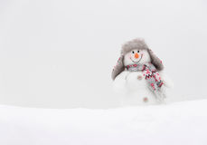 Happy winter snowman Stock Image