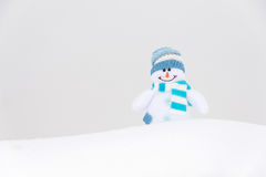 Happy winter snowman (copy space) Royalty Free Stock Images