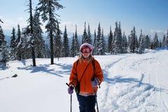 Happy winter travel Royalty Free Stock Photos