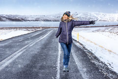 Happy winter travel Royalty Free Stock Images