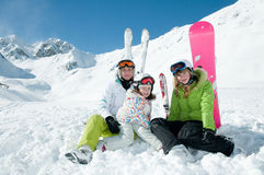 Happy winter vacation Stock Images