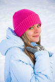 Happy winter woman Royalty Free Stock Photography