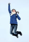 Happy winter woman Stock Images