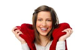 Happy winter woman Stock Photos