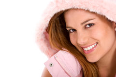 Happy winter woman Royalty Free Stock Image