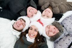 Happy winter youth people Royalty Free Stock Image