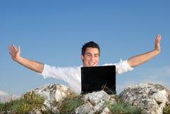 Happy wirelless Stock Image