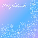 Happy wishes merry christmas snowflake background Stock Images