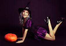 Happy witch Royalty Free Stock Image