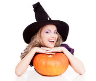 Happy witch Stock Photo