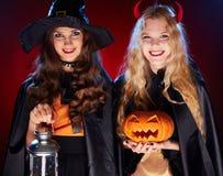 Happy witches Stock Photos