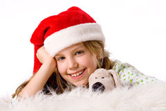 Happy With The Christmas Dog Royalty Free Stock Photo
