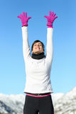 Happy womam sport success Royalty Free Stock Photo