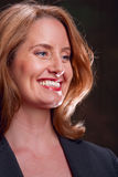 Happy woman. Portrait of a happy businesswoman royalty free stock photography